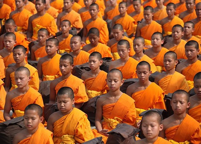 Monks | Meditate | Thailand | Asia