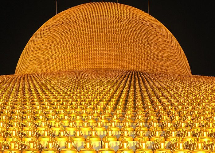 Dhammakaya Pagoda | More than one million gold Budhas | Thailand | Asia