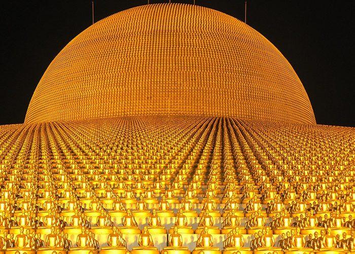 Dhammakaya Pagoda | More than one million gold Budhas | Thailand | Asia